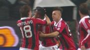 Robinho sigla il goal vittoria del Milan a San Siro contro la Juventus