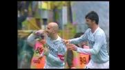 Rocchi realizza un goal al secondo tentativo contro il Livorno