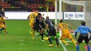 Rolando con tanta fortuna realizza il goal del 4 a 1 sul Verona