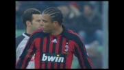 Ronaldo di potenza, palo pieno e niente goal del Milan