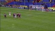 Rosina segna dal dischetto il goal che porta il Siena in vantaggio a Marassi