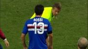 Rossi espulso nel derby di Genova per doppia ammonizione