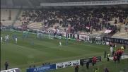Zaccardo da pochi metri liscia il pallone e manca il goal contro l'Udinese