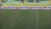 Rudolf cambia direzione col tacco contro l'Udinese
