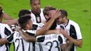Rugani festeggia il suo primo goal con la maglia della Juventus