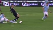 Il tackle di Cana su Vucinic gli costa il calcio di rigore