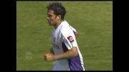 Santana segna il goal della bandiera per la Fiorentina contro il Cagliari