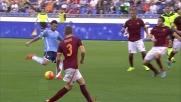 La bordata di Felipe Anderson si infrange sulla traversa nel derby