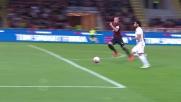 Salah calcia a lato un'ottima occasione per la Roma a San Siro contro il Milan