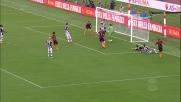 Salvataggio sulla linea di Widmer in Roma-Udinese!