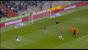 Sampdoria in vantaggio conun goal di sinistro preciso di Cassano che supera De Lucia