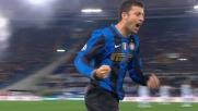 Samuel segna di testa il goal che porta avanti l'Inter in casa della Lazio
