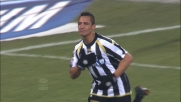 Sanchez tocca di testa in area e segna il goal dell'1-0 alla Sampdoria