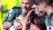 Sansone firma il goal vittoria del Sassuolo con un destro al volo