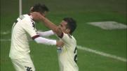 Sau si libera scivolando e ribadisce in rete per la seconda volta contro l'Inter