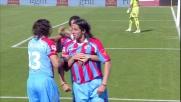 Schelotto mette in rete il goal del momentaneo pareggio del Catania contro la Lazio