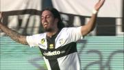 Schelotto segna di testa un goal di rapina per il 2-0 del Parma sul Verona