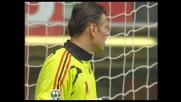 Schema da calcio d'angolo e tiro al volo di Langella: Kalac in tuffo chiude la porta del Milan