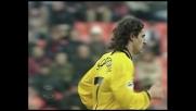 Scoponi segna il goal della bandiera del Modena a San Siro