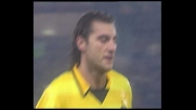 Sereni esce male, Vieri ne approfitta e porta in vantaggio l'Inter contro la Lazio