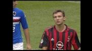 Shevchenko grazia la Sampdoria: il suo tiro di prima intenzione è fuori di poco
