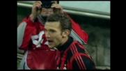 Shevchenko segna il quarto goal per il Milan contro il Parma