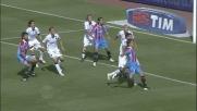 Silvestre segna il goal col tap-in in Catania-Cagliari