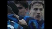 Simeone di testa in tuffo, secondo goal personale contro il Cagliari