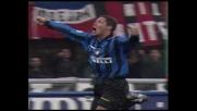 Simeone, gran colpo di testa contro il Milan: goal del vantaggio per l'Inter