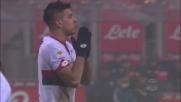 Simeone la mette fuori col colpo di testa, graziata l'Inter