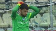 Simone Verdi dal dischetto realizza il goal dell'1-1 tra Carpi e Atalanta