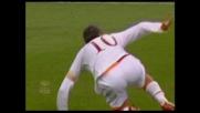 Spettacolare girata in goal di Totti che sblocca la sfida con il Milan