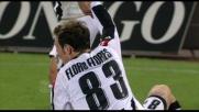 Stacco perfetto: Floro Flores segna il goal del 2-0 per l'Udinese
