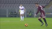 Staffilata da fuori di Barreca che accarezza l'idea del goal contro il Genoa