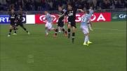 Stankevicius prova il goal di tacco contro la Juventus