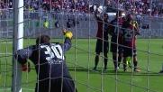 Storari respinge la punizione di Ilicic in Cagliari-Fiorentina
