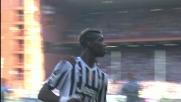 Su rigore Pogba spiazza Lamanna e raddoppia per la Juventus