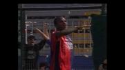 Suazo irresistibile, segna da solo il goal del Cagliari contro il Messina