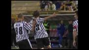 Floro Flores firma il goal del raddoppio per l'Udinese contro il Bologna