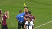 Fallo di mano di Bonera: doppio giallo ed espulsione per il Milan