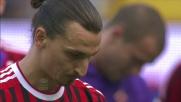 Ibrahimovic non teme la tensione e realizza su rigore contro la Fiorentina