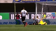 La deviazione di Pellissier vale il goal del momentaneo 1 a 0 per il Chievo