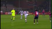 Tacco di Del Piero per servire Trezeguet contro il Genoa