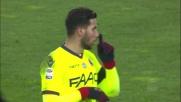 Taider ci prova col destro ma non inquadra la porta dell'Udinese
