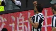 Allo Juventus Stadium goal di Tevez con un tiro di sinistro dopo un dribbling secco