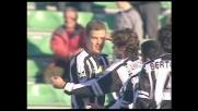Bierhoff segna contro il Lecce un goal incredibile di nuca e l'Udinese allunga