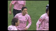 Tedesco segna di testa il goal del 2-0 del Palermo contro l'Udiense