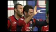 Testa di Gobbi, goal del Cagliari contro il Lecce
