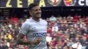 Thereau capitalizza una grande azione di Widmer: Udinese in vantaggio a Genova