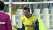 Thereau infila Pellizzoli con un diagonale di destro segnando il goal del 2-0 al Pescara